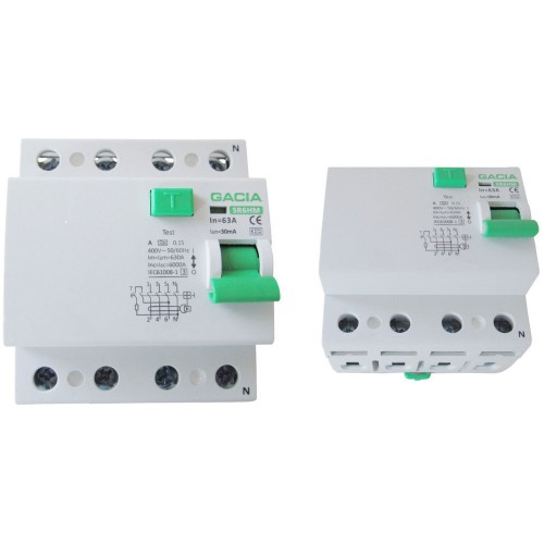 Residual current circuit breakers SR6HM 4P 63A/30mA A FI switch Circuit breaker