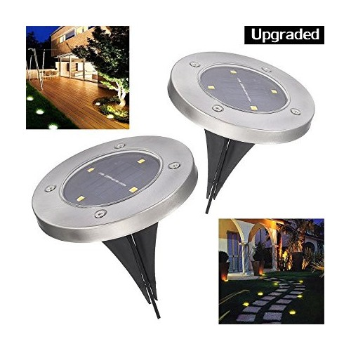 Solar In-ground Lights Pathonor 4 LED 2 Pack