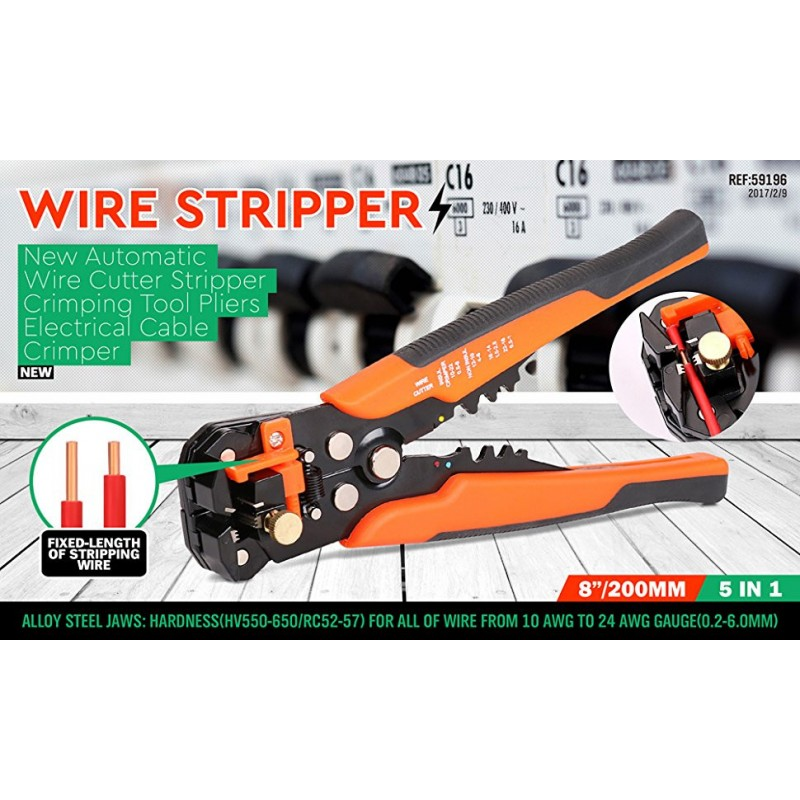 Cutting Pliers Wire Stripping Tool Self-adjusting Jaws