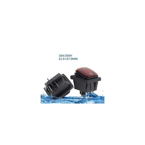 Red RLEIL RL2(P) Waterproof IP65 ON/OFF Boat Car Rocker Switch