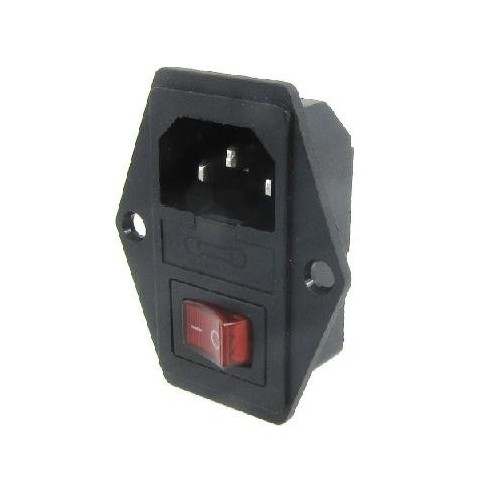 AC power socket products shaped triple socket with insurance with the green switch JR