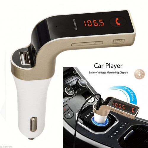 CARG7 Bluetooth MP3 Player FM Transmitter USB Car Charger