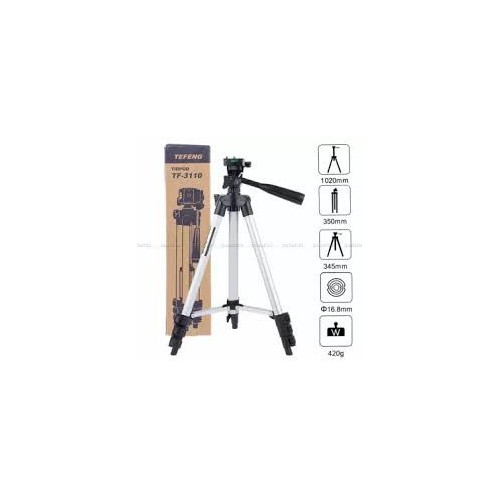 ET - 3110 Universal Aluminum Portable Digital Camera Tripod Stand - SILVER AND BLACK