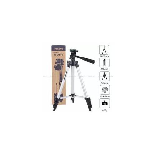 ET - 3110 Universal Aluminum Portable Digital Camera Tripod Stand - SILVER AND BLACK