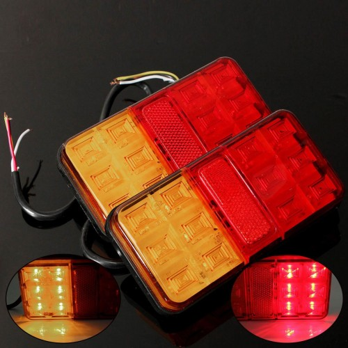 LED Tail Rear Light 12V Trailer Truck Lamp Lights