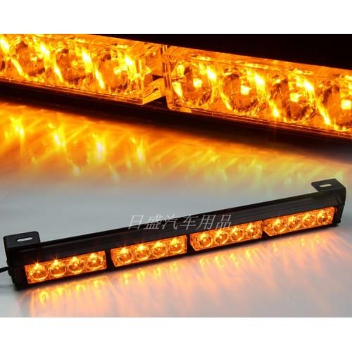 Yellow 13 Modes 8 Light Heads 16 LED Traffic Advisor Emergency Warning Security
