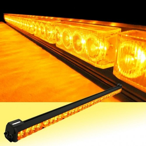 "32 LED 36"" Amber Yellow Emergency Traffic Advisor Flash Strobe Light Bar"