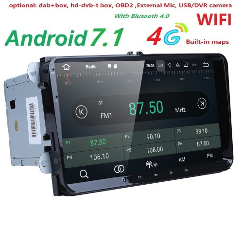 VW - ANDROID GPS ΑΥΤΟΚΙΝΗΤΟΥ 2DIN MULTIMEDIA FULL