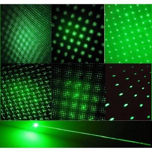 Green Laser Pointer Pen Adjustable Focus Laser Torch Focusable Burning Star Pointer Flashlight