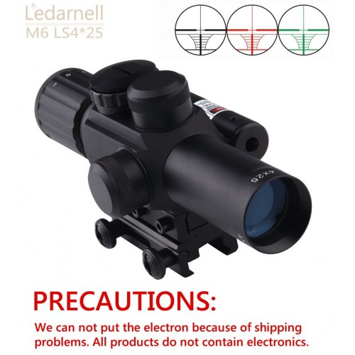 TELESKOP SENAPAN / TEROPONG / RIFLE SCOPE WITH LASER SIGHT M6 LS4