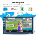 2 DIN Bluetooth Auto Multimedia Car Stereo Player MP5 GPS AM / FM / RDS