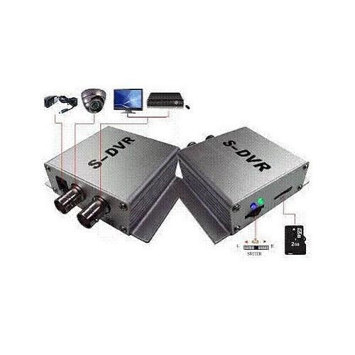 Single Channel Motion Detection Mini DVR A / V Recorder with TF Card Slot DC 12V Silver DVR-102