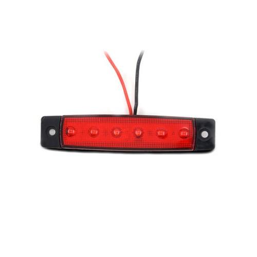 Red Light 6 LED Side Marker Indicators Light Truck Trailer