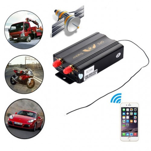 GPS Tracker for Vehicle Micro SD Card Remote Control TK103B