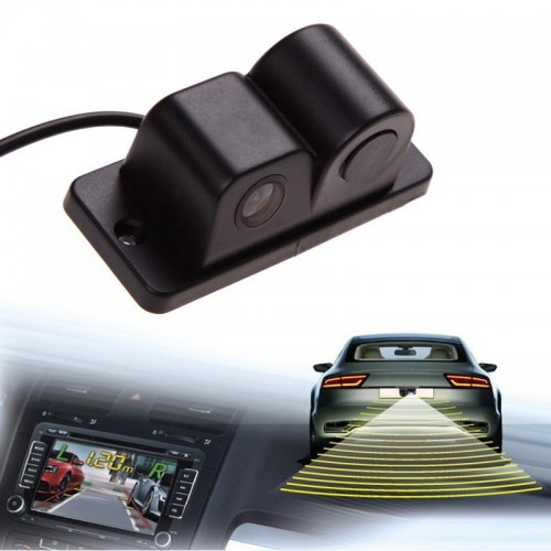 Sound Alarm Car Reverse Backup Video Parking Sensor Radar System Rear View Parking Camera