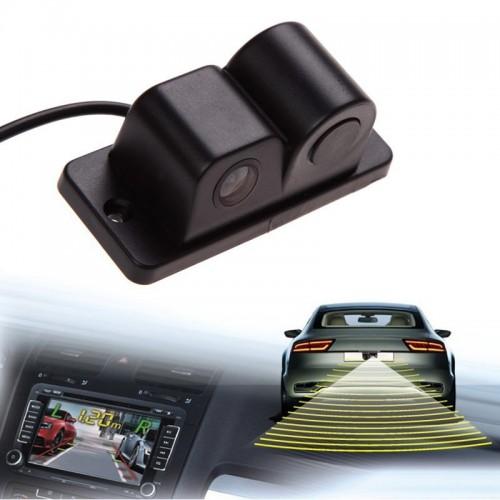 Sound Alarm Car Reverse Backup Video Parking Sensor Radar System Rear View Parking Camera