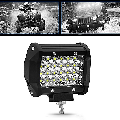 Universal 4Row 24 LED 72W 4 Inch Spot Offroad Work Light Bar Fog Light 10 to 30V
