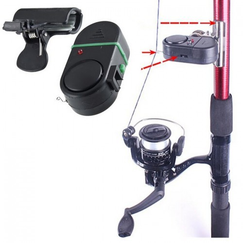 Fish Bite Strike Sound Alarm Bell Alert Clip-On Fishing Rod Pole Tackle Fishing Accessories fish alarm