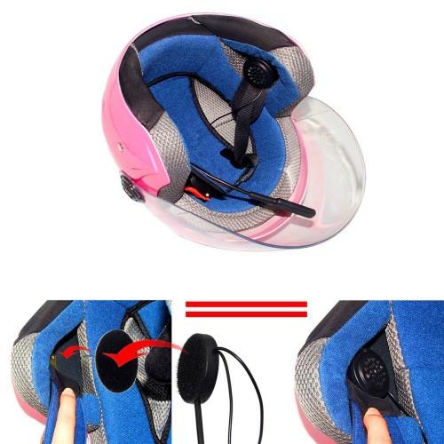 LeaningTech Wireless Motorcycle Helmet Headset Bluetooth Headset, Helmet Headphones, Hands-Free Speakers, Music Call Control