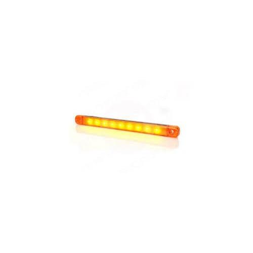 4 x Amber Orange 12V 9 Led Side Marker Indicators Lights Truck Trailer E-Marked