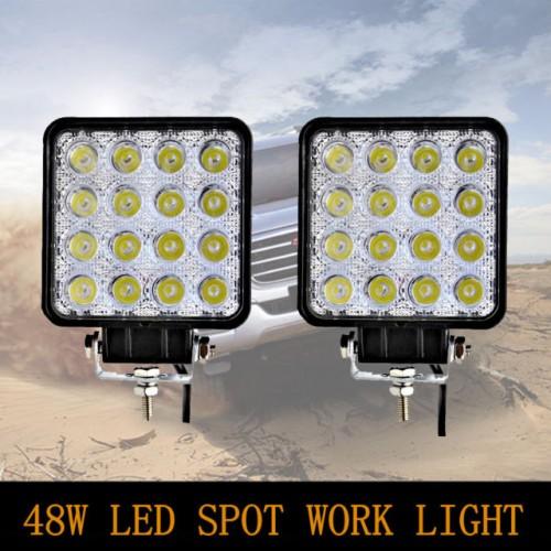 12v / 24v 48w square led flood work light for truck