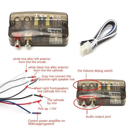 Car Stereo Speaker Level Converter, High VF Rotates Low