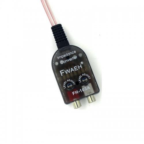 Car Stero Radio Speaker High To Low RCA Line Audio Impedance Converter Adapter