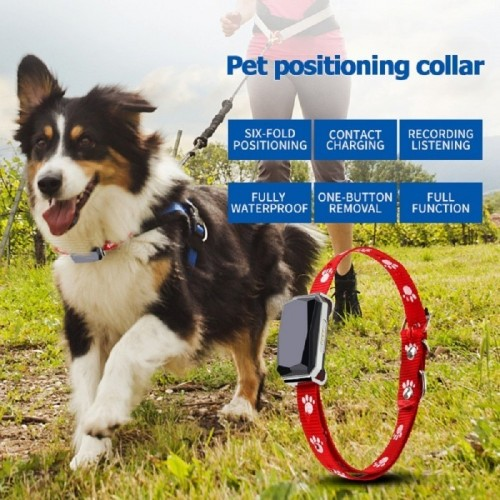 Collar Dog GPS Tracker Real-time Location Tracking Device GPS+WIFI+LBS+AGPS
