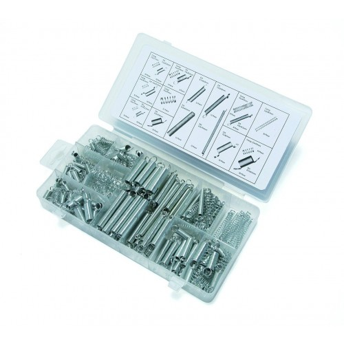 200PCS/Lot Spring Assortment Kit Compression & Extension Carburator Flat Hoop Set with box