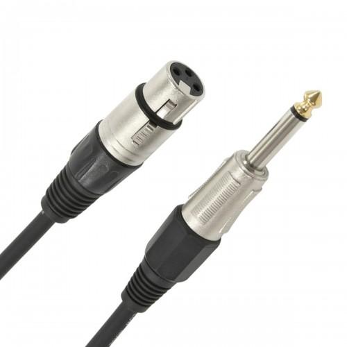 SOUND CABLE 6.3mm MONO MALE TO CANON 3P MALE 3m T1902-012 VI..