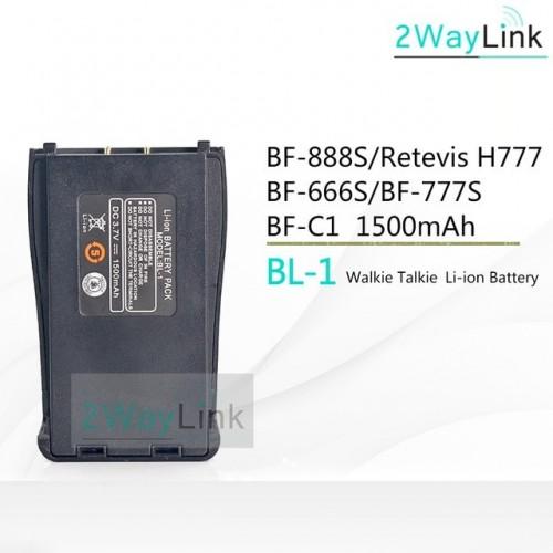 BAOFENG 3.7 V Li-ion Battery 1500mAh for Retevis H-777 Baofeng 666S/777S/888S US