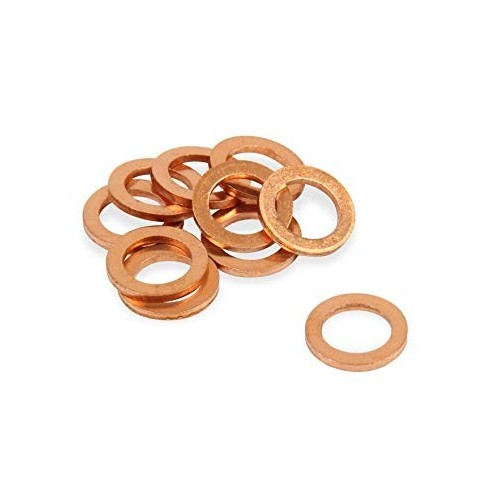 150PCS Solid Copper Washers Sump Plug Assorted Engine Seal Washer Set Box