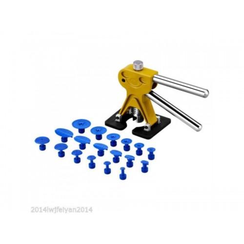 19pcs Professional Car Paintless Dent Repair Tools Auto Dent Lifter Removal Auto Body PDR Tools Golden