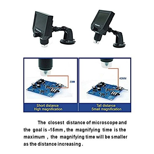 Portable LCD Digital Microscope HD LCD Screen Can lift