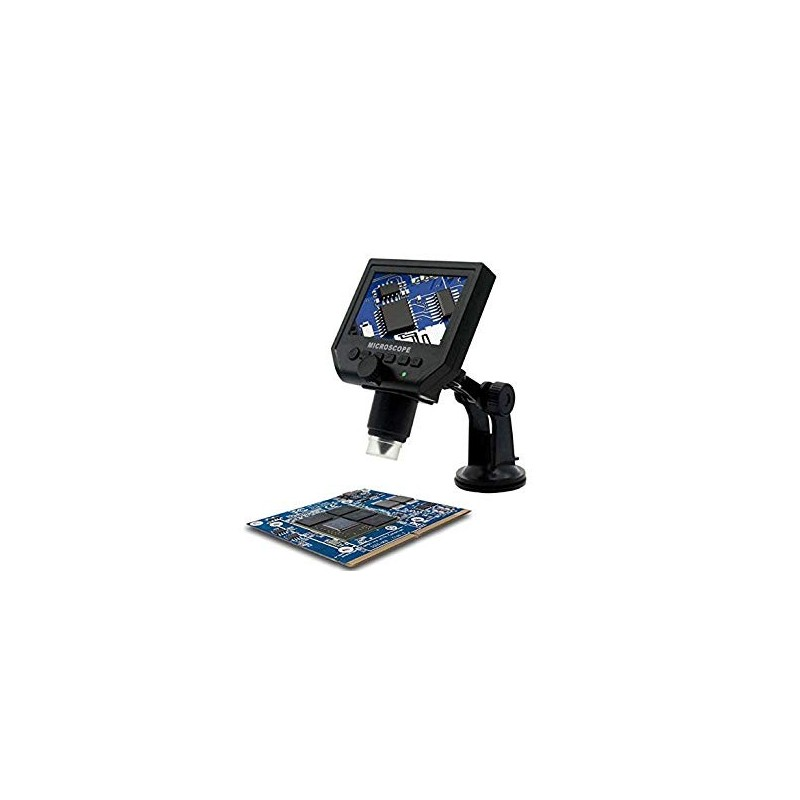 """4.3"""" LCD 8-LED 3.6MP 1-600x Portable LCD Digital Microscope Support 64G SD Card"""