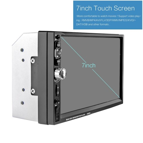 2DIN Radio MP5 Player 7'' HD Touch Screen Bluetooth