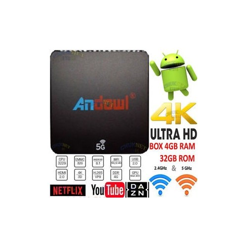 Andowl Q-M6 Android 8.1 4K 4Gb Ram 32 Gb Rom Iptv 5G Dual Band