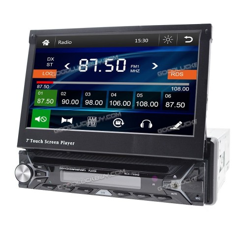 "7"" HD Single 1 Din MCX-1703AD Auto Car DVD Player Stereo GPS Navigation"
