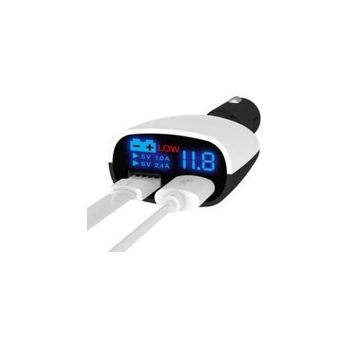 Super-Fast LED Display Dual USB Car Charger 3.4 Amp