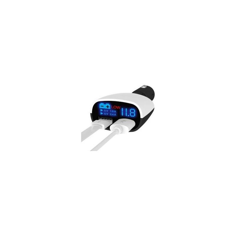 TΡΟΦΟΔΟΤΙΚΟ USB ΑΥΤΟΚΙΝΗΤΟΥ 3.4A +VOLTMETER
