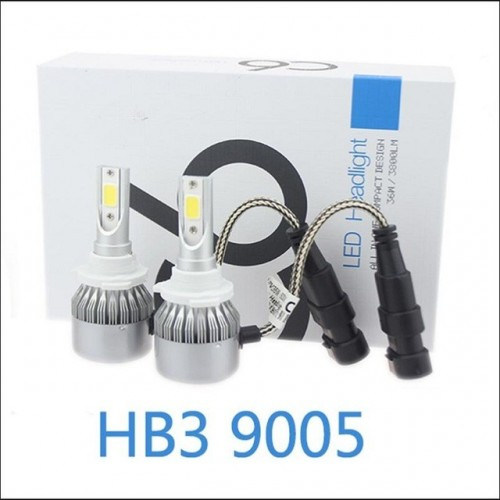 9005 HB3 72W 7600LM COB Chip C6 LED Headlight 36W 3800LM