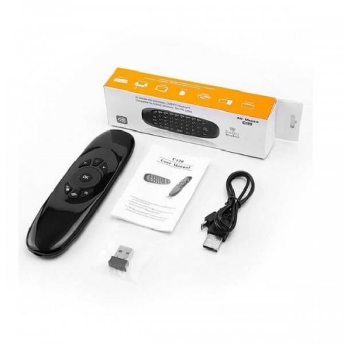 3 in 1 2.4GHz Wireless Air Mouse Full QWERTY Keyboard TV Remote Control