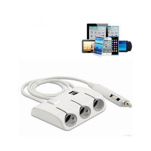 ΠΟΛΥΠΡΙΖΟ ΒΥΣΜΑΤΟΣ ΑΝΑΠΤΗΡΑ ΑΥΤΟΚΙΝΗΤΟΥ 3 ΘΕΣΕΩΝ & USB 0.5A