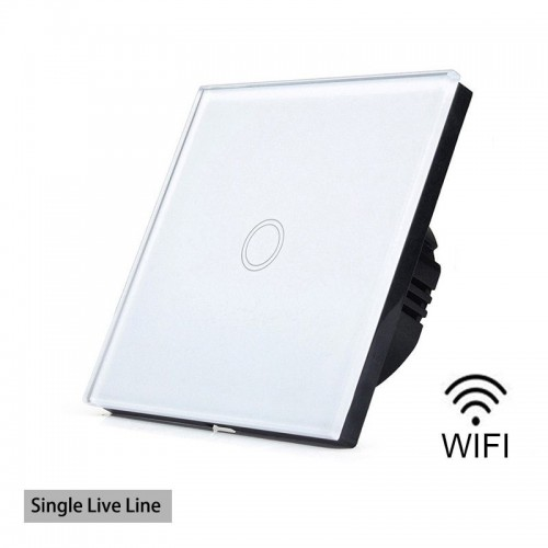 Wifi Smart Wall Light Switch Touch Panel Remote Single FireWire
