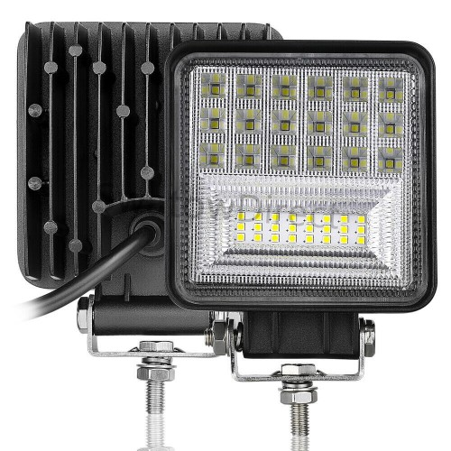 5inch Square LED Work Flood Light Bar Driving Offroad Truck Trailer UTE 4x4