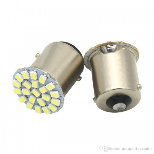 1156 / BA15S / P21W 3W 200lm 22-SMD 1206 LED White Car Lamp (12V)