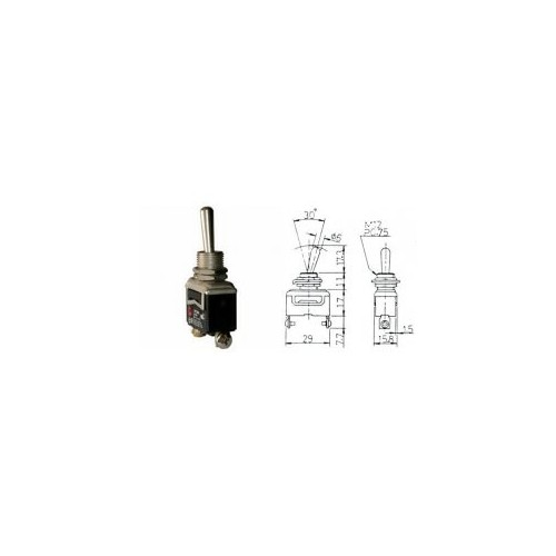 TOGGLE SWITCH (ON)-OFF 16(10)A/250V 2P HY29I KED