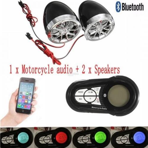 ΗΧΕΙΑ ΜΟΤΟΣΥΚΛΕΤΑΣ ΜΕ MP3 - USB - FM Bluetooth