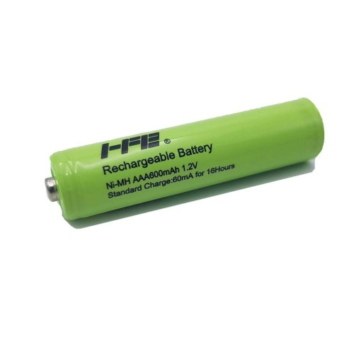 NI-MH AAA 600MA Rechargeable Batteries 1.2 V Green