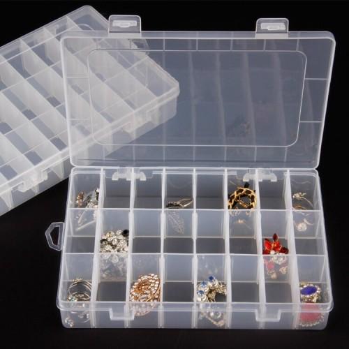 Plastic Adjustable Compartment Storage Box 24